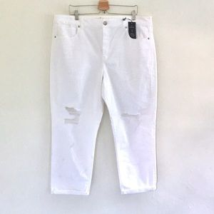 AMERICAN EAGLE OUTFITTERS white jeans PLUS women